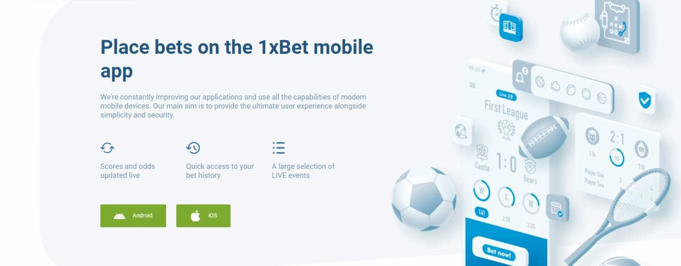 1xbet apk download for Android and iOS